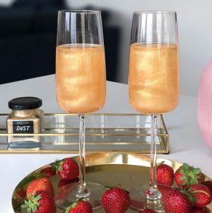 ätbart glitter till drinkar