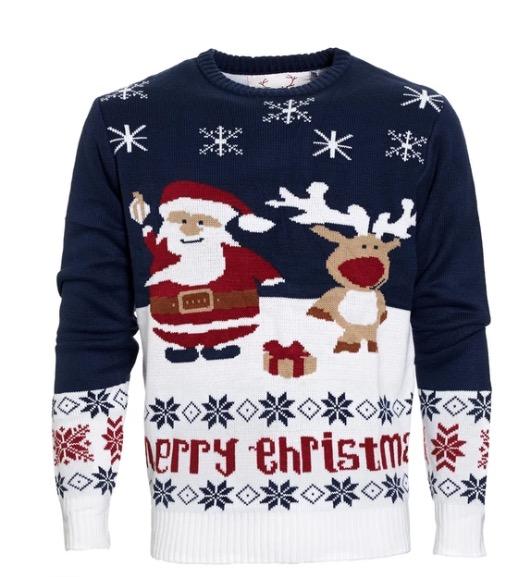 snygg klassisk jultröja herr
