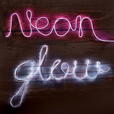 ljusslinga neon diy