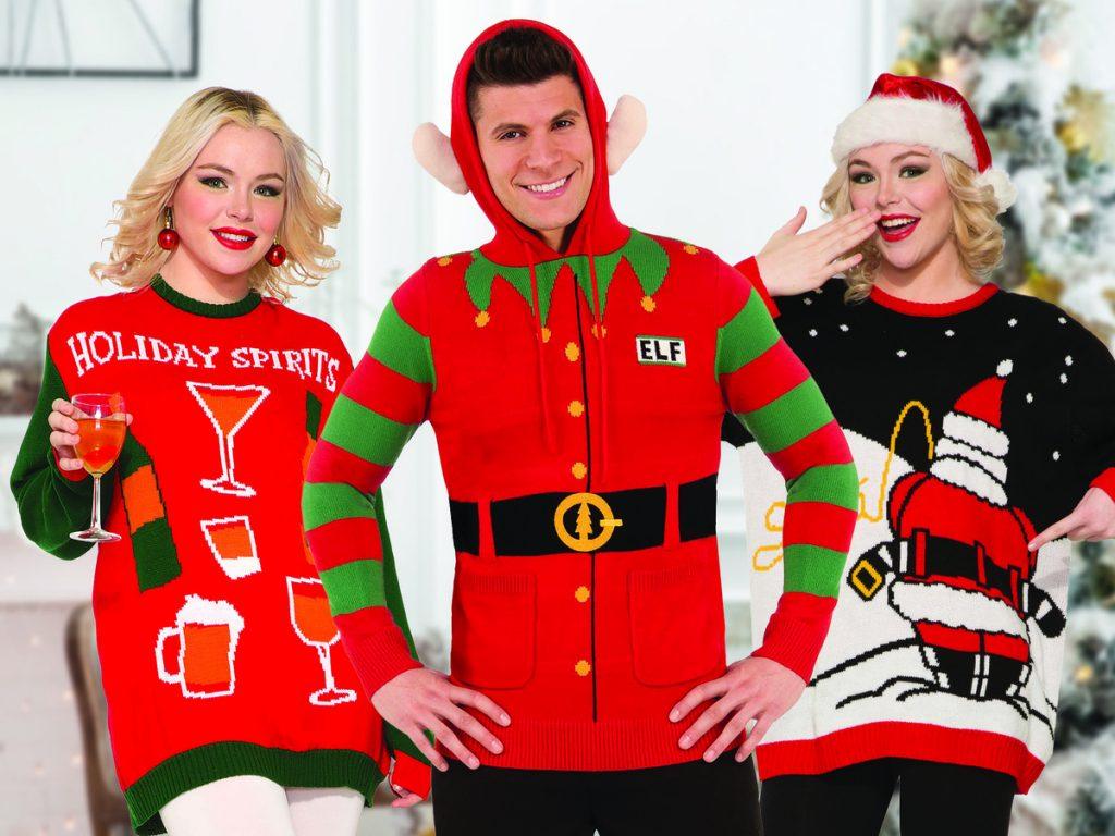 tre fula jultröjor herr